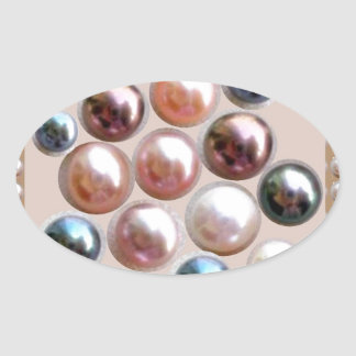 Joyas de la perla de la chispa pegatina ovalada