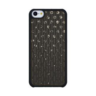Joyas de madera de la chispa del negro del iPhone Funda De iPhone 5C Slim Arce