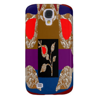 Joyas de plata del oro n: Mirada bordada grabada Funda Para Galaxy S4
