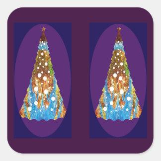 Joyas decorativas de la alta energía calcomania cuadradas