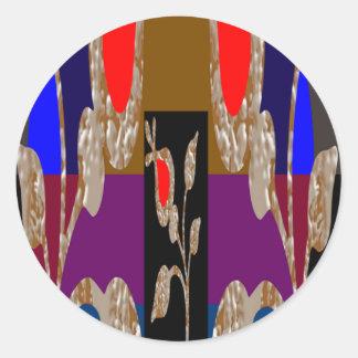 Joyas decorativas de la alta energía pegatinas redondas