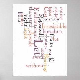 Joyas del arte de la palabra del temor póster