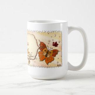 Joyas del otoño taza básica blanca