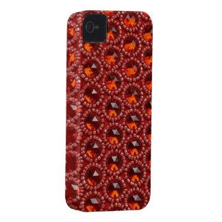 Joyas del rojo cereza y caja de las gotas IPhone4 iPhone 4 Carcasa