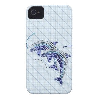 Joyas elegantes del delfín iPhone 4 funda