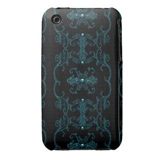 Joyas góticas de la elegancia del vintage iPhone 3 protectores