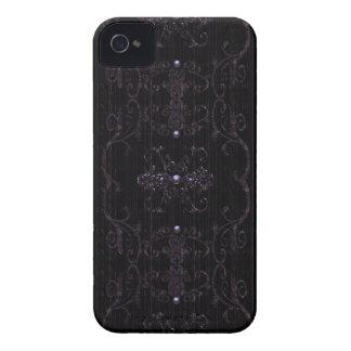 Joyas góticas de la elegancia del vintage iPhone 4 Case-Mate carcasas
