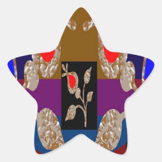 Joyas grabadas plata del oro n del CENTELLEO Pegatinas Forma De Estrella Personalizadas