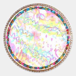 Joyas mágicas del copo de nieve de Zazzling Pegatinas Redondas