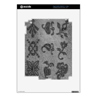 Joyas negras de la belleza Art101 iPad 2 Calcomanía