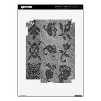 Joyas negras de la belleza Art101 iPad 3 Pegatina Skin