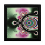 Joyas rosadas negras del fractal del arco iris cajas de regalo