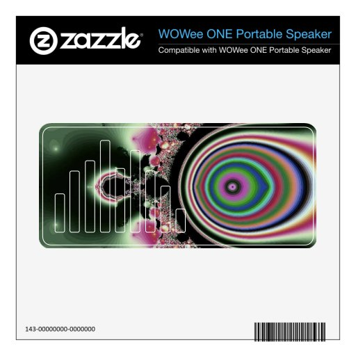 Joyas rosadas negras del fractal del arco iris calcomanías para WOWee speakers