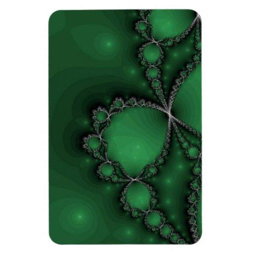 Joyas verdes y negras del fractal iman rectangular