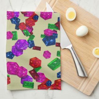 Joyas y gemas reales de Birthstone del color de la Toallas De Cocina