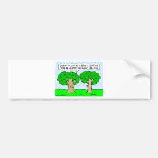joyce kilmer desire elms under trees bumper sticker