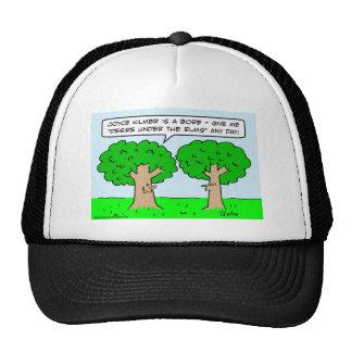 joyce kilmer desire elms under trees trucker hat