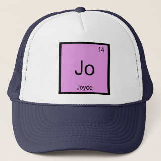 Joyce  Name Chemistry Element Periodic Table Trucker Hat