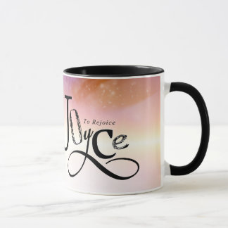 "Joyce ""To Rejoice"" - Personalized name mug gift"