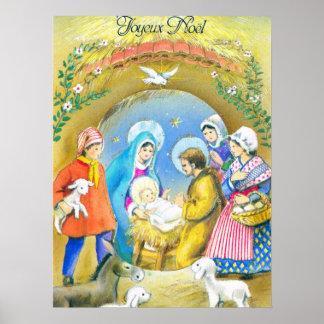 Joyeaux Noel, Nativity scene Posters