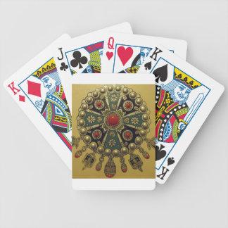 Joyería africana del norte tradicional cartas de juego