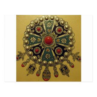 Joyería africana del norte tradicional tarjeta postal