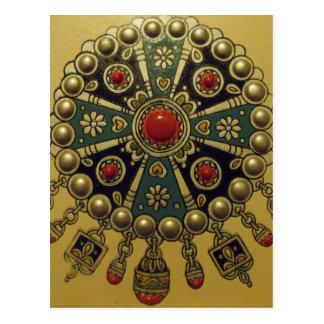 Joyería africana del norte tradicional tarjetas postales