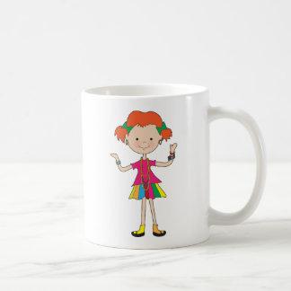 Joyería de la niña taza de café