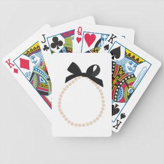 Joyería de la perla baraja cartas de poker