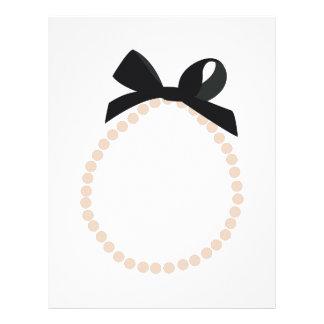 Joyería de la perla membretes personalizados
