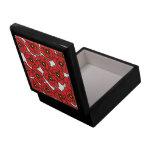 Joyería de las amapolas rojas modernas/caja de reg