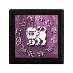 Joyería de Leo/caja de regalo púrpuras