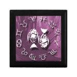 Joyería de Piscis/caja de regalo púrpuras