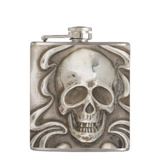 Joyería de Repousse de la plata del vintage del fr Petaca