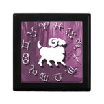 Joyería del aries/caja de regalo púrpuras