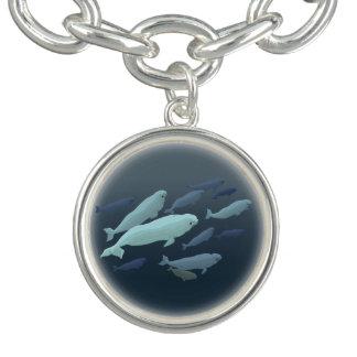 Joyería del arte de la ballena de la beluga de la pulsera con dije
