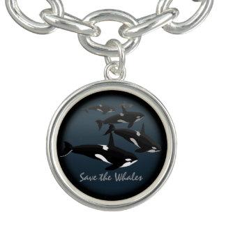 Joyería del arte de la orca de la pulsera de la