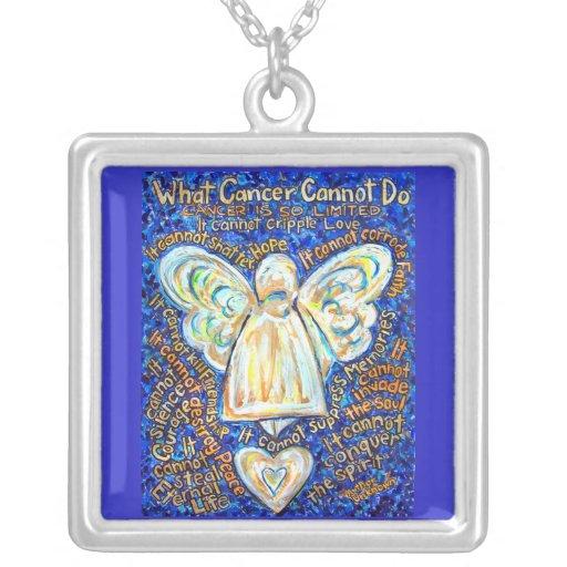 Joyería del collar del ángel del cáncer del azul y