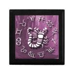 Joyería del escorpión/caja de regalo púrpuras