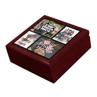 Joyería del recuerdo del collage de 4 fotos/caja d cajas de joyas