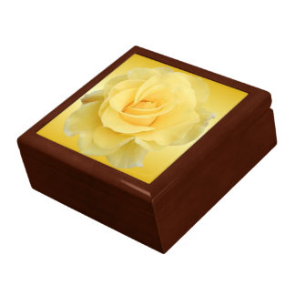 Joyería del rosa amarillo #3/caja del recuerdo cajas de recuerdo