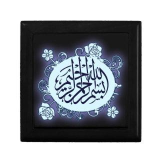 Joyería islámica del árabe del flowe de la caligra caja de regalo