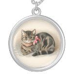 Joyería linda pendiente del collar del gato del