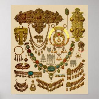 Joyería oriental póster
