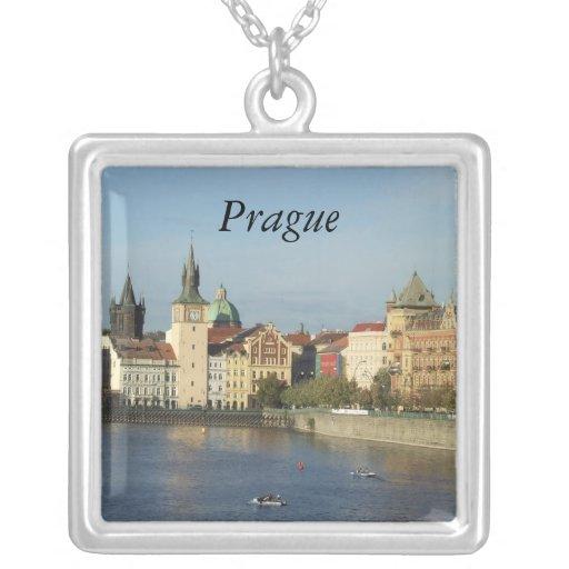 Joyería pendiente de plata del collar de Praga