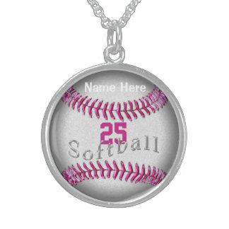 Joyería personalizada del softball de la plata est