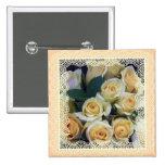 Joyería - Pin - rosas amarillos cremosos en cordón