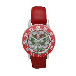 Joyería roja del reloj del día de fiesta del navid