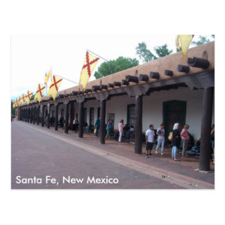 Joyería vendedora india en la plaza, Santa Fe, Tarjetas Postales