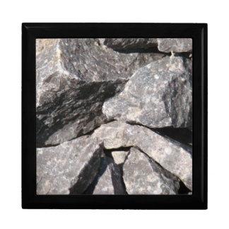 Joyero áspero flojo de la teja de la roca del gran caja de recuerdo